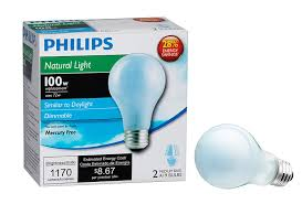 philips 226993 72 watt a19 halogen light bulb natural light