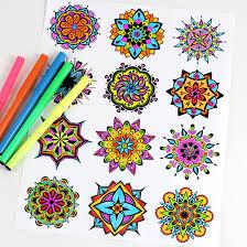 mandala coloring pages mandala coloring art therapy mandala