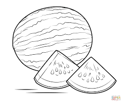 watermelon coloring page free printable coloring pages