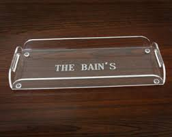 personalized trays acrylic serving tray personalized tray with handles