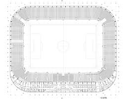 stadium floor plans of lublin city stadium estudio lamela 18