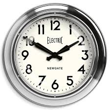 extra large oversized retro station wall clock chrome newgate
