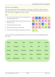 ks2 algebra teachit primary