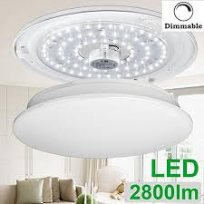 Round Fluorescent Light Fixture Le 40w Dimmable Daylight White 19 3 Inch Led Ceiling Lights 225w