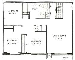 3 bedroom floor plans basham rentals 225 s river rd3 bedroom floor plans