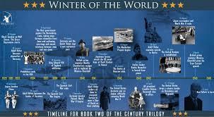 World Map Winter by Ken Follett Bibliography Winter Of The World