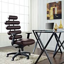 modway pillow office chair in brown eei 274 dbr home depot