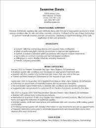 Sonographer Resume Esthetician Medical Esthetician Resume By Jasmine Davis