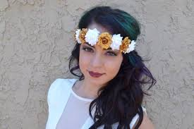 white flower headband gold white flower headband c1013 vividbloom