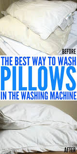 best way to wash pillows in the washing machine