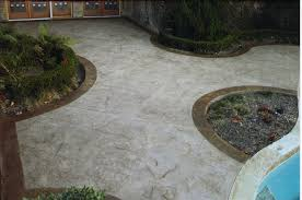 stamped concrete pool deck classic crete