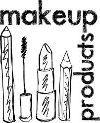 sketch of makeup products vector illustration royalty free stock