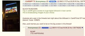Memes 4chan - 4chan hackers take over city billboard to broadcast hate memes