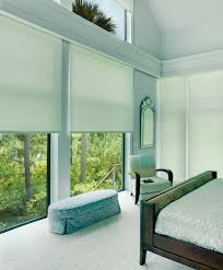 motorized window shades bedroom contemporary with blackout shade