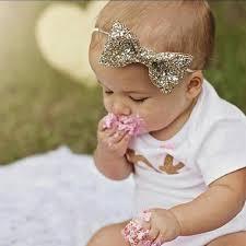 baby bows and headbands glittery bow headband gold headband birthday cake smash 1st