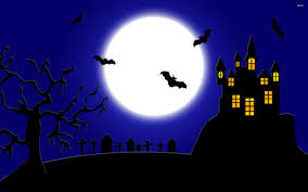 spooky cemetery clipart halloween scary castle graveyard background with a spooky haunted
