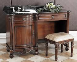 Bathroom Vanity With Makeup Table by Nicole Single 55 Inch Bathroom Vanity Dressing Table