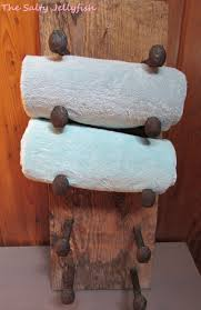 Log Cabin Bathroom Decor by Rustic Towel Rack Rustic Barnwood Rack Rustic Rack Rustic