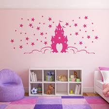 disney princess castle wall stickers for girls wallstickerycom fairytale princess castle wall stickers by parkins interiors princess wall stickers