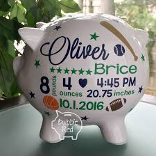 customized piggy bank baby 30 best pigs in paint images on piggy banks pottery