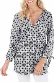 mud pie black white detailed top from florida by the stable home
