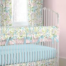 Pink And Teal Crib Bedding by Love Birds Crib Bedding Baby Girl Crib Bedding In Love Birds