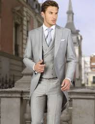 mens light gray 3 piece suit men font b coat b font pant three piece suits light gray custom made