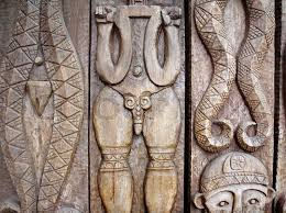 aboriginal wood carvings stock photo colourbox