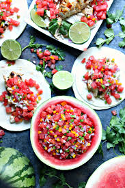 honey lime chicken tacos with watermelon salsa cravings of a lunatic