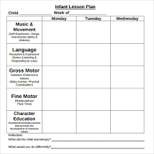 sample physical education lesson plan template toddler lesson