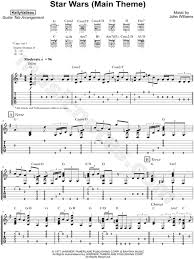 unforgiven theme song print and download kelly valleau star wars main theme guitar tab