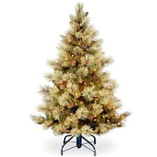 carolina 4 5 green pine artificial tree with 450 clear
