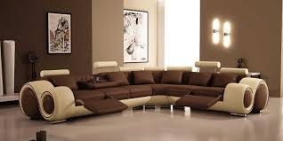 Brown Leather Reclining Sofa by Funiture Modern Reclining Sofa Ideas For Living Room Using Beige
