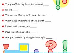 1st grade punctuation worksheets u0026 free printables education com