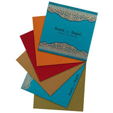 Golden Wedding Invitation Cards Firozi And Golden Wedding Card With Multi Color Inserts Wedding