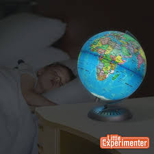 amazon com illuminated world globe for kids with stand built in