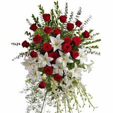 sympathy floral standing sprays funeral flowers columbus ohio