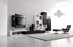 living room luxurious white design black wall units bookshelf rug