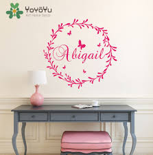 online get cheap girls wall paper stickers personal name removable nursery name personalized wall decal kids children bedroom wall decoration girl name wall sticker paper