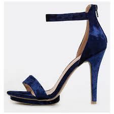 Cobalt Blue High Heels Single Sole Velvet Heels Navy 29 Liked On Polyvore Featuring