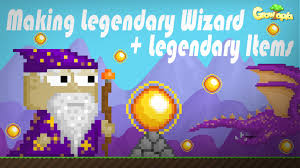 growtopia making legendary wizard legendary items youtube
