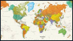 Upside Down World Map World Maps By Category