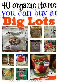 40 organic items you can buy at big lots money saving