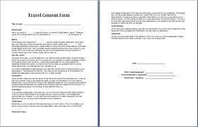 printable ms word parent consent forms word u0026 excel templates