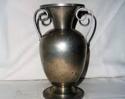 Metal Jug Vase Metal Vase Etsy