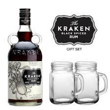 Old Fashioned Gift Set Buy The Kraken Black Spiced Rum Gift Set Online Rum Gifts