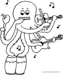 music coloring pages kids coloring