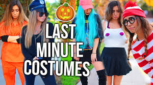 2017 halloween costume ideas 15 last minute halloween costume ideas youtube