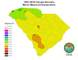 Climate Map South Carolina State Climatology Office