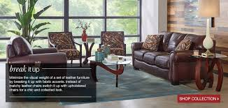 Roma Furniture Collection Art Van Furniture - Leather chairs living room